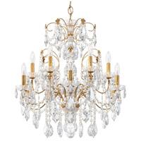 Schonbek 1712-26 Century 12 Light 30 inch French Gold Chandelier Ceiling Light