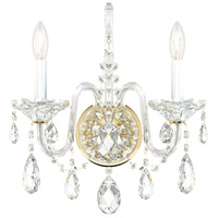 Schonbek 2991-211S Sterling 2 Light 7 inch Aurelia Wall Sconce Wall Light in Sterling Swarovski