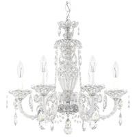 Schonbek 2994-40H Sterling 6 Light 21 inch Silver Chandelier Ceiling Light in Polished Silver, Sterling Heritage
