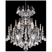 Schonbek 3573-47CL Renaissance Rock Crystal 16 Light 38 inch Antique Pewter Chandelier Ceiling Light in Renaissance Rock Clear