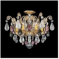 Schonbek 3584-22AD Renaissance Rock Crystal 6 Light 20 inch Heirloom Gold Flush Mount Ceiling Light in Renaissance Rock Amethyst and Black Diamond