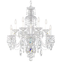 Schonbek 3601-40A Sterling 12 Light Silver Chandelier Ceiling Light in Spectra, Polished Silver