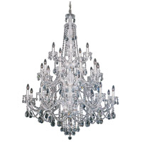 Schonbek 3610-40A Sterling 25 Light Silver Chandelier Ceiling Light in Spectra