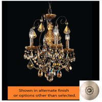 Schonbek 3648-48S New Orleans 4 Light 12 inch Antique Silver Chandelier Ceiling Light in New Orleans Swarovski