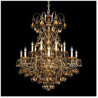 Schonbek 3658-22TK New Orleans 14 Light Heirloom Gold Chandelier Ceiling Light in New Orleans Golden Teak
