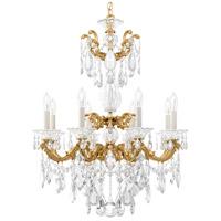 Schonbek 5007-22 La Scala 8 Light 25 inch Heirloom Gold Chandelier Ceiling Light in Heritage