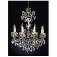 Schonbek 5007-74S La Scala 8 Light 25 inch Parchment Bronze Chandelier Ceiling Light in Swarovski