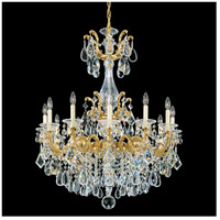Schonbek 5011-22S La Scala 12 Light 33 inch Heirloom Gold Chandelier Ceiling Light in Swarovski