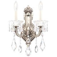 Schonbek 5070-48 La Scala 2 Light 7 inch Antique Silver Wall Sconce Wall Light in Heritage