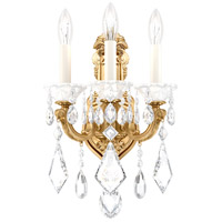Schonbek 5071-22 La Scala 3 Light 8 inch Heirloom Gold Wall Sconce Wall Light in Heritage