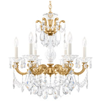Schonbek 5072-22 La Scala 6 Light 23 inch Heirloom Gold Chandelier Ceiling Light in Heritage