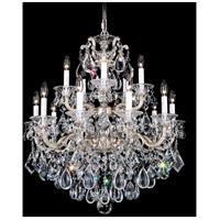 Schonbek 5075-48S La Scala 15 Light 28 inch Antique Silver Chandelier Ceiling Light in Swarovski