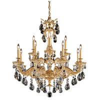 Schonbek 5682-22A Milano 12 Light 33 inch Heirloom Gold Chandelier Ceiling Light in Cast Heirloom Gold, Milano Spectra