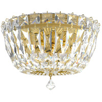Schonbek 5890-211S Petit Crystal Deluxe 3 Light 8 inch Aurelia Flush Mount Ceiling Light in Swarovski