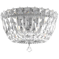 Schonbek 5890-40S Petit Crystal Deluxe 3 Light 8 inch Silver Flush Mount Ceiling Light in Swarovski Polished Silver