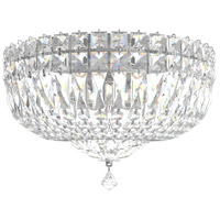 Schonbek 5892-40A Petit Crystal Deluxe 5 Light 12 inch Silver Flush Mount Ceiling Light in Polished Silver, Petite Deluxe Spectra
