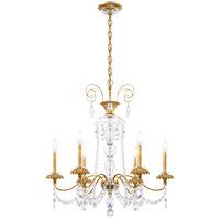 Schonbek AT1006N-22H Helenia 6 Light 28 inch Heirloom Gold Chandelier Ceiling Light, Adjustable Height