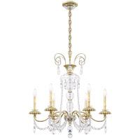 Schonbek AT1006N-44H Helenia 6 Light 28 inch Heirloom Silver Chandelier Ceiling Light, Adjustable Height