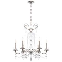Schonbek AT1006N-48H Helenia 6 Light 28 inch Antique Silver Chandelier Ceiling Light, Adjustable Height