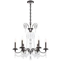 Schonbek AT1006N-51H Helenia 6 Light 28 inch Black Chandelier Ceiling Light, Adjustable Height