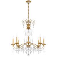 Schonbek AT1008N-22H Helenia 8 Light 32 inch Heirloom Gold Chandelier Ceiling Light, Adjustable Height