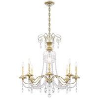 Schonbek AT1008N-44H Helenia 8 Light 32 inch Heirloom Silver Chandelier Ceiling Light, Adjustable Height