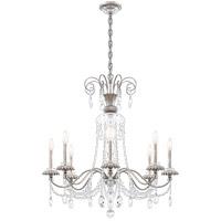 Schonbek AT1008N-48H Helenia 8 Light 32 inch Antique Silver Chandelier Ceiling Light, Adjustable Height