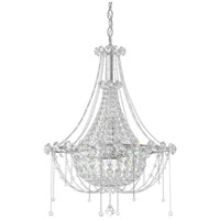 Schonbek CM8319N-401A Chrysalita 6 Light 19 inch Stainless Steel Chandelier Ceiling Light