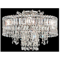 Schonbek LR1004N-48A Triandra 5 Light 19 inch Antique Silver Semi Flush Mount Ceiling Light in Spectra