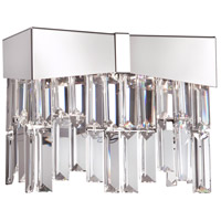 Schonbek Polished Stainless Steel Wall Sconces