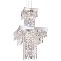Schonbek RF2460N-401A Riviera 24 Light 24 inch Stainless Steel Foyer Pendant Ceiling Light in Spectra, Polished Stainless Steel