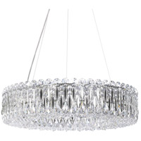 Schonbek RS8343N-401A Sarella 12 Light 24 inch Stainless Steel Chandelier Ceiling Light in Spectra Polished Stainless Steel