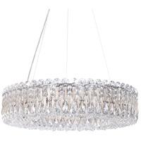 Schonbek RS8343N-48A Sarella 12 Light 24 inch Antique Silver Chandelier Ceiling Light in Spectra