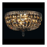 Schonbek Rialto 4 Light Ceiling Fixture in Ancient Bronze and Strass Crystal 5040-65TK
