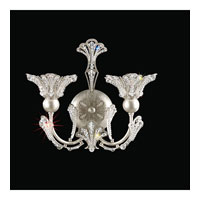 Rivendell 2 Light 6 inch Antique Silver Wall Bracket Wall Light in Clear Spectra