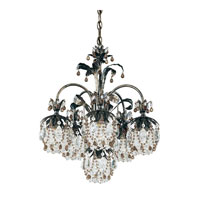 Schonbek Rondelle 6 Light Chandelier in Heirloom Bronze and Smoke Vintage Crystal Trim 1266-76SM