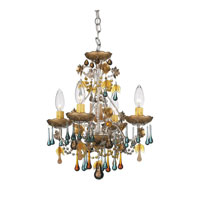 Schonbek The Rose 4 Light Chandelier in Antique Silver and Autumn Vintage Crystal Colors Trim 1424-48AN photo thumbnail