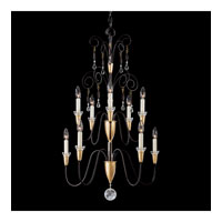 Schonbek Timbrel 10 Light Pendant in Black and Vintage Crystal 6910-51CL photo thumbnail