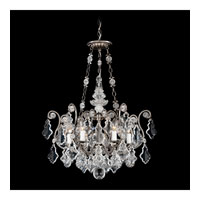 Schonbek Versailles 6 Light Pendant in Antique Pewter and Handcut Crystal 2786-47
