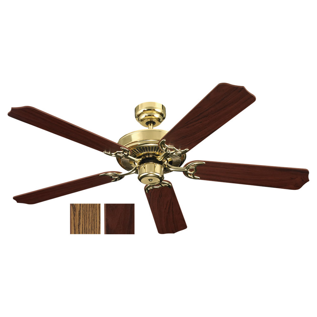 Sea Gull Lighting 52in 5 Blade Fan in Polished Brass 15030-02