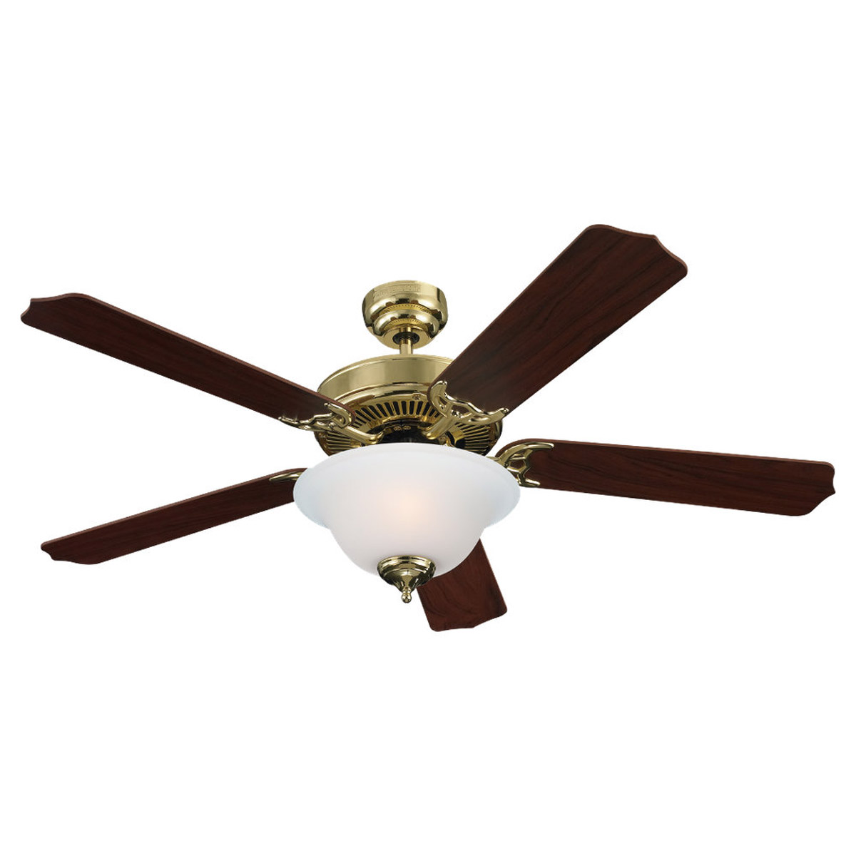 Sea Gull Lighting 2 Light 52in Quality Max Plus Ceiling Fan in Polished Brass 15030BLE-02 photo
