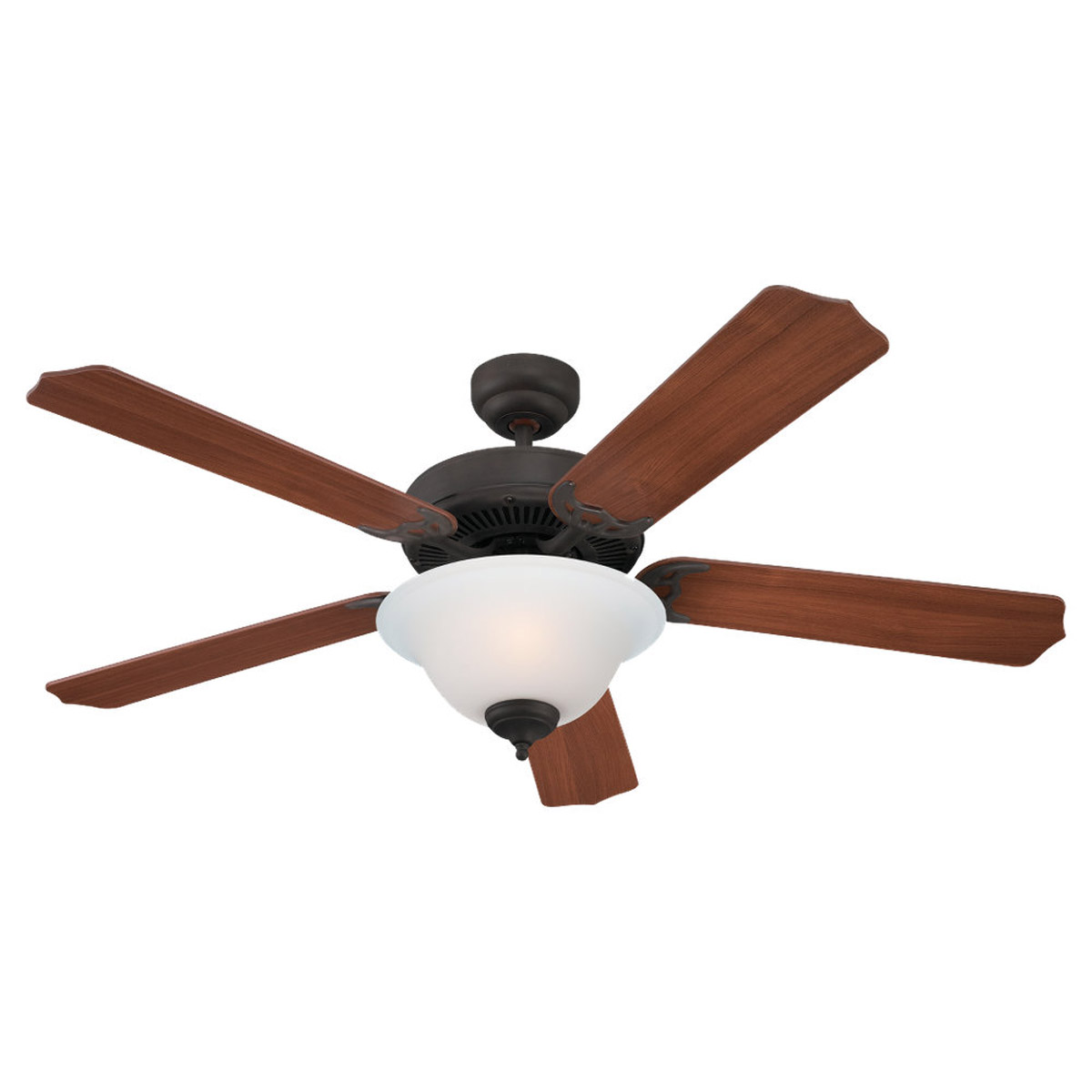 Sea Gull Lighting 2 Light 52in Quality Max Plus Ceiling Fan in Misted Bronze 15030BLE-814