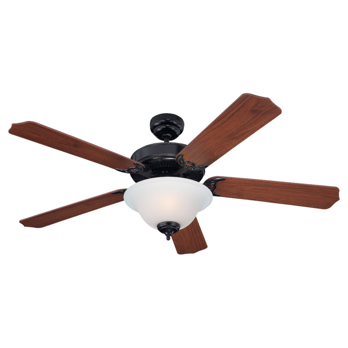Sea Gull Lighting Quality Max Plus 2 Light Fluorescent Ceiling Fan in Vintage Brown 15030BLE-862 photo