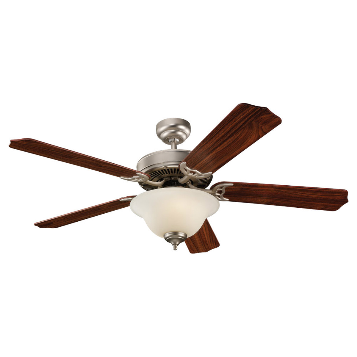 Sea Gull Lighting Quality Max Plus 2 Light Fluorescent Ceiling Fan in Brushed Pewter 15030BLE-892