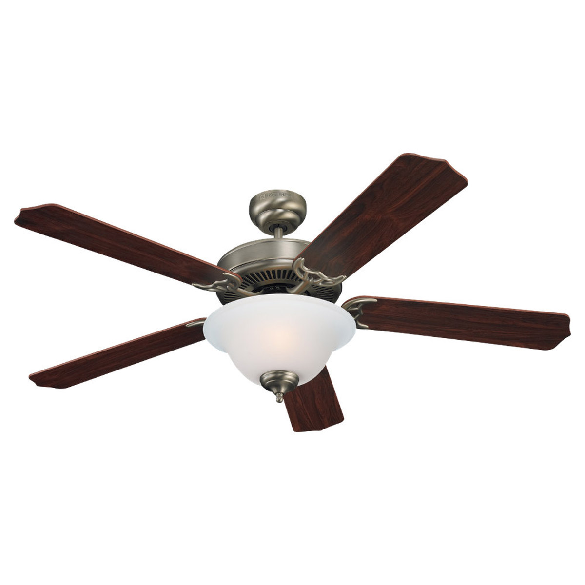 Sea Gull Lighting 2 Light 52in Quality Max Plus Ceiling Fan in Antique Brushed Nickel 15030BLE-965