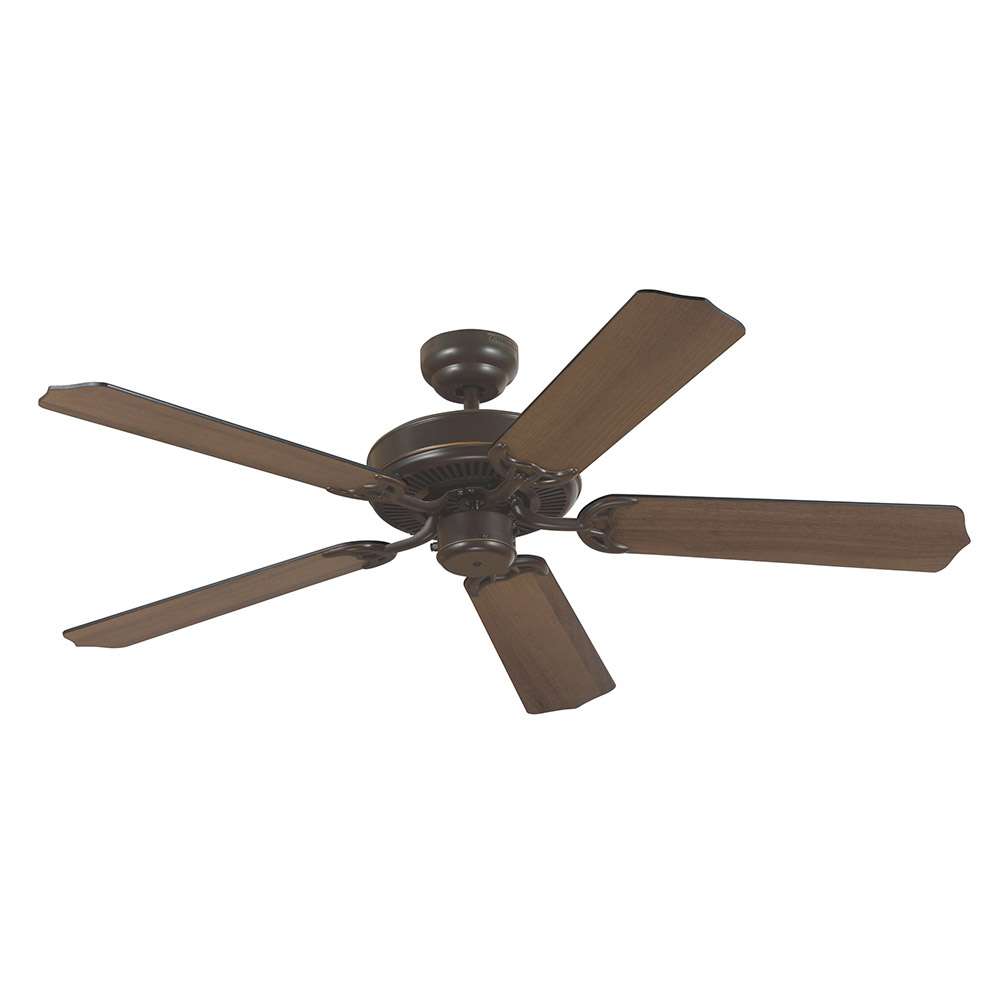 Sea Gull 15040-782 Quality Max 52 inch Heirloom Bronze with Cerused Oak/Ebony Blades Ceiling Fan in Standard photo