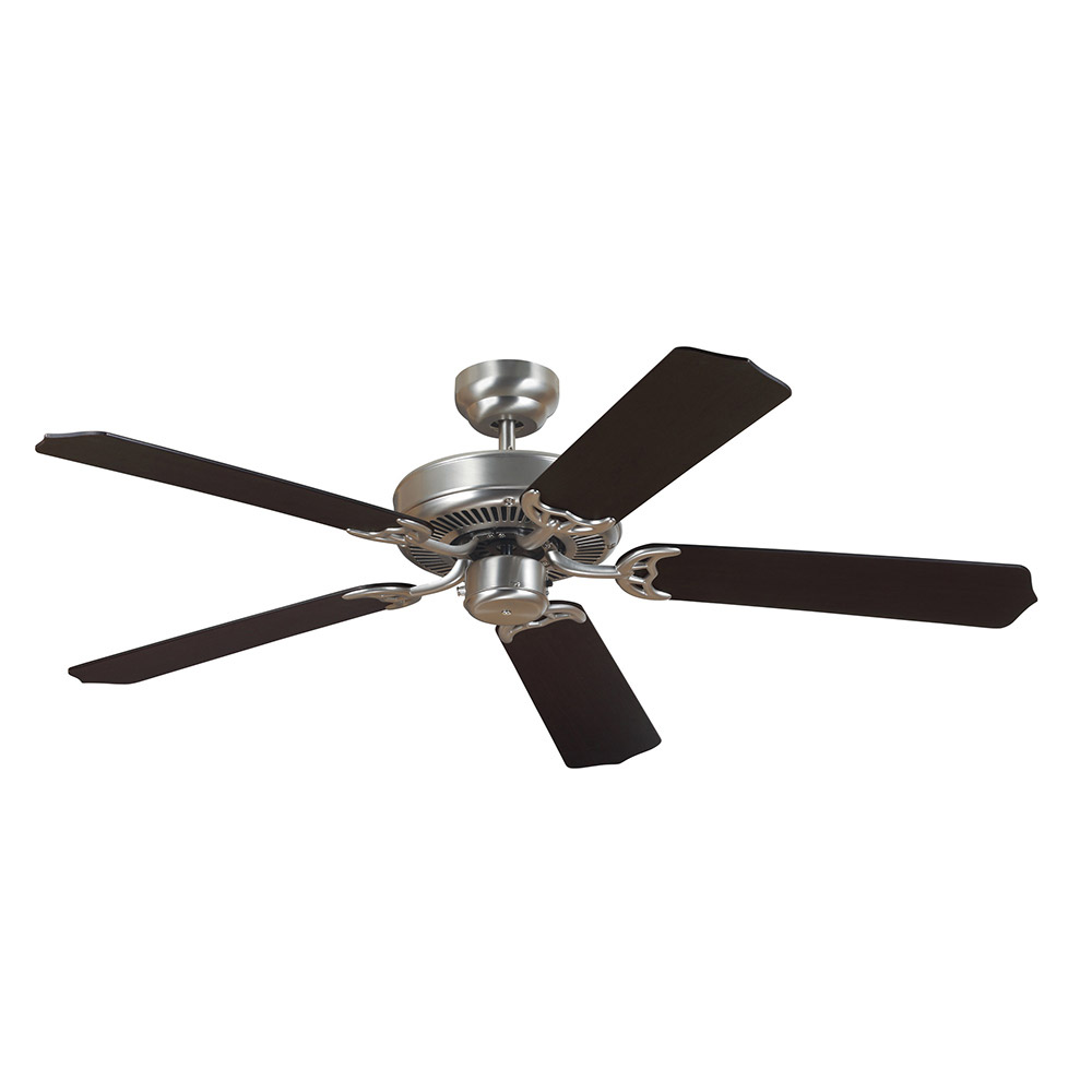 Sea Gull 15040-962 Quality Max 52 inch Brushed Nickel with Cerused Oak/Ebony Blades Ceiling Fan in Standard photo