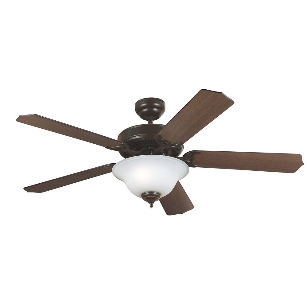 Sea Gull Quality Max Plus 2 Light Ceiling Fan in Heirloom Bronze 15040BLE-782