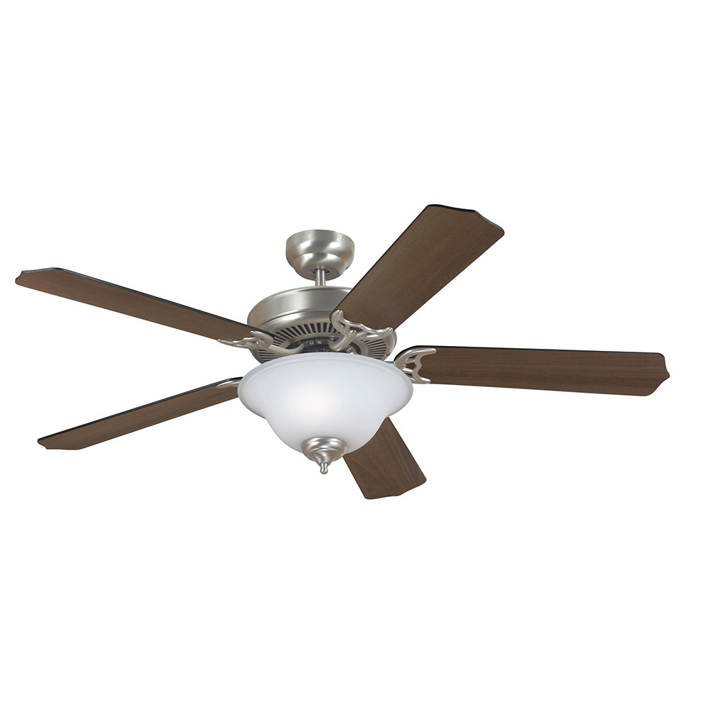 Sea Gull 15040BLE-962 Quality Max Plus 52 inch Brushed Nickel with Cerused Oak/Ebony Blades Ceiling Fan in Fluorescent photo