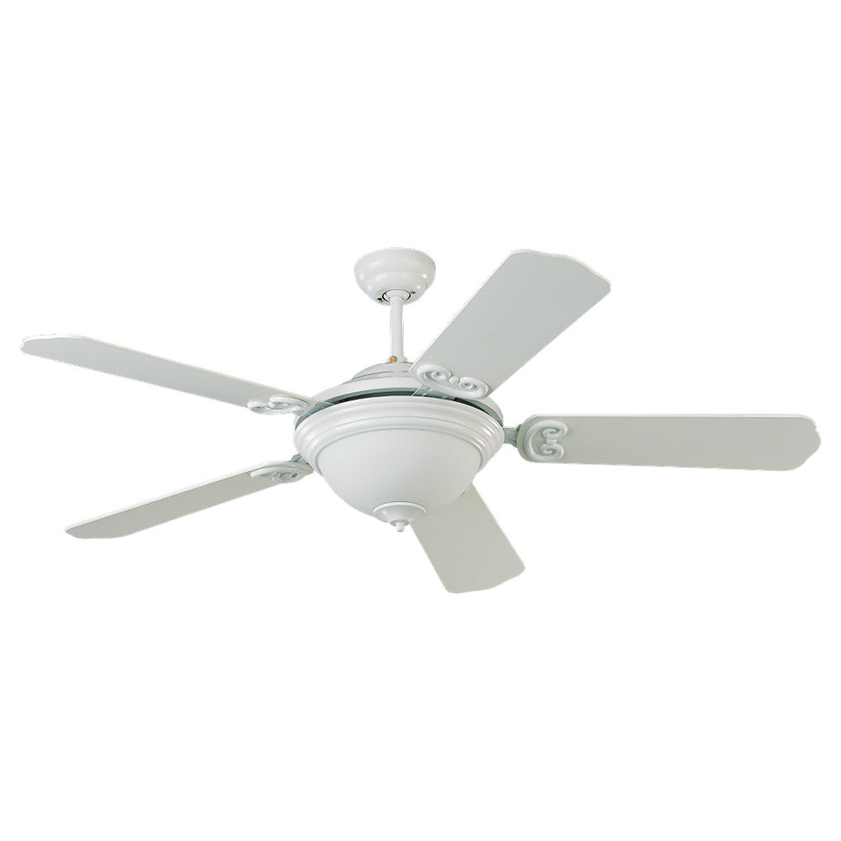 Sea Gull Lighting Park Avenue Elite 1 Light Fluorescent Ceiling Fan in White 15090BLE-15